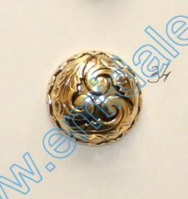 Nasture Plastic Metalizat JU049, Marime 34, Auriu (100 buc/punga)  Nasture Plastic Metalizat JU823, Marime 34 (100 buc/pachet)