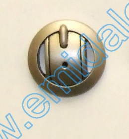 Nasturi Plastic Metalizati ABH024-9, Marimea 24 (144 buc/pachet) Metalized Plastic Buttons Ju1318, Size 34, Matt Silver (100 pcs/pack)