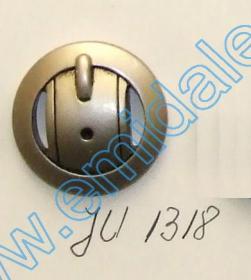 Nasturi Metalizati cu Picior  S630/24 (100 buc/pachet) Nasturi Plastic Metalizati JU1318, Marime 40, Argintiu Mat (100 buc/pachet)