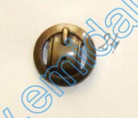 Nasturi Metalizati, cu Picior, din Plastic 15mm (144 bucati/pachet) Cod: 2122 Nasturi Plastic Metalizati JU1318, Marimea 24, Antic Brass (100 buc/pachet)