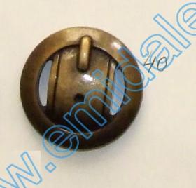 Nasturi Metalizati cu Picior  S630/40 (50 buc/pachet) Nasturi Plastic Metalizati JU1318, Marimea 40, Antic Brass (100 buc/pachet)