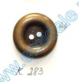 Nasturi A832, Marime 32, Argintii Inchis (100 buc/pachet)  Nasturi Plastic Metalizati K283, Marimea 44, Antic Brass (100 buc/pachet)