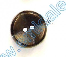 Nasturi Plastic Metalizati ABH024-9, Marimea 24 (144 buc/pachet) Metalized Plastic Buttons JU870, Size 40, Antique Brass (100 pcs/pack)
