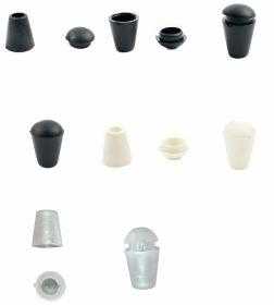 Capete Snur (100 buc/punga)Cod: MTL119 Capete de Snur, Transparent, Alb, Negru (200 bucati/set) Cod: 0305-3646