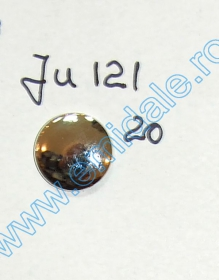 Nasturi cu Picior JU121, Marimea 20, Aurii  (100 buc/pachet) Nasturi cu Picior JU121, Marimea 20, Argintii  (100 buc/pachet)
