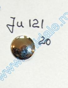 Nasturi cu Strasuri, 3 cm(10 buc/pachet) Cod: BT0843 Nasturi cu Picior JU121, Marimea 20, Argintii  (100 buc/pachet)