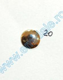 Nasturi cu Picior BP575, Marimea 40 (25 buc/pachet)    Nasturi cu Picior JU121, Marimea 20, Aurii  (100 buc/pachet)