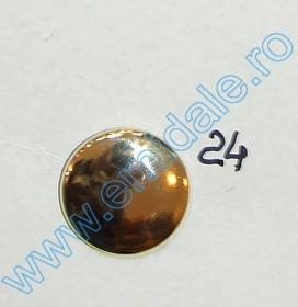 Nasturi cu Picior JU121, Marimea 20, Argintii  (100 buc/pachet) Nasturi cu Picior JU121, Marimea 24, Aurii  (100 buc/pachet)