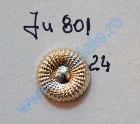 Nasturi cu Picior 94LY-Y105, Marimea 24, Aurii (100 buc/pachet)   Nasturi cu Picior JU801, Marimea 24, Aurii  (100 buc/pachet)