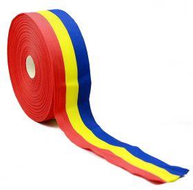Banda Tricolor, latime 10 mm (50 metri/rola)  Banda Tricolor, latime 50 mm (50 metri/rola)