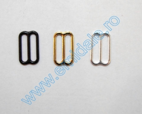 Inchizatori Sutien, 15 mm, Negru (100 perechi/pachet) Reglor Sutien, 15 mm, Auriu, Negru, Argintiu (100 bucati/pachet)