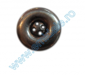 Nasturi Metalizati, cu Picior, din Plastic 25mm (100 bucati/pachet) Cod: 3166  Nasturi Plastic Metalizati AB3457, Marimea 32 (144 buc/pachet)