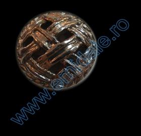Nasturi Metalizati, cu Picior, din Plastic 25mm (100 bucati/pachet) Cod: 3166  Nasturi Plastic Metalizati AB3429, Marimea 40 (144 buc/pachet)
