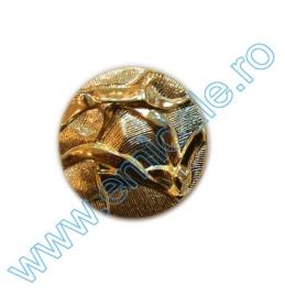 Nasture Plastic Metalizat JU049, Marime 18, Auriu (100 buc/punga)  Nasturi AH1211, Marimea 24, Aurii (144 buc/pachet)