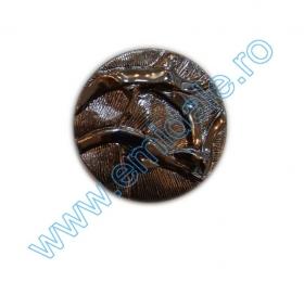 Nasturi Metalizati, cu Picior, din Plastic 25mm (100 bucati/pachet) Cod: 3166  Nasturi AH1211, Marimea 24, Argintii (144 buc/pachet)