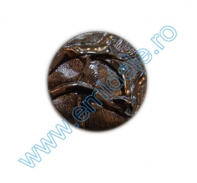 Nasturi Metalizati, cu Picior, din Plastic, marime 40 Lin (144 bucati/pachet) Cod: B6314 Nasturi AH1211, Marimea 34, Argintii (144 buc/pachet)