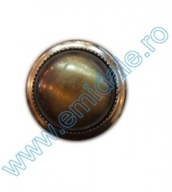 Nasture Plastic Metalizat JU049, Marime 28, Antic Brass (100 buc/punga)  Nasturi AH1231, Marimea 28, Antic-Brass (144 buc/pachet)