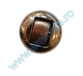 Nasturi Metalizati, cu Picior, din Plastic 15mm (144 bucati/pachet) Cod: 2122 Nasturi AH1213, Marimea 40 (144 buc/pachet)