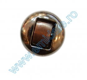Nasturi Metalizati, cu Picior, din Plastic  21mm (100 bucati/pachet) Cod: 3148 Nasturi AH1213, Marimea 48 (144 buc/pachet)