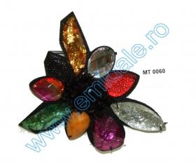 Aplicatii cu Cristale MT0335 Aplicatii Vestimentare, Multicolor, lungime 11 cm (4 bucati/pachet)