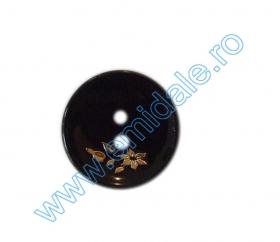 Nasturi Plastic  H275/48 (100 bucati/pachet) Culoare: Alb Nasturi cu Doua Gauri H134/40 (100 buc/punga)
