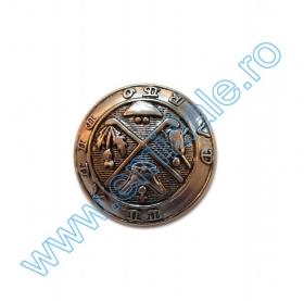 Nasturi Metalizati cu Patru Gauri  S507/40 (100 buc/pachet) Nasture Plastic Metalizat JU798, Marime 40 (100 buc/punga)