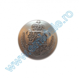 Nasturi cu Picior S738, Marimea 24 (100 buc/pachet) Nasture Plastic Metalizat JU932, Marimea 24, Argintiu (100 buc/punga)