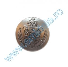 Nasturi cu Picior S567, Marimea 34 (100 buc/pachet) Nasture Plastic Metalizat JU932, Marimea 40, Argintiu (100 buc/punga)