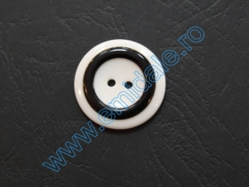Nasturi Plastic  H275/48 (100 bucati/pachet) Culoare: Alb Nasturi cu Doua Gauri 0312-4050/36 (100 buc/punga)