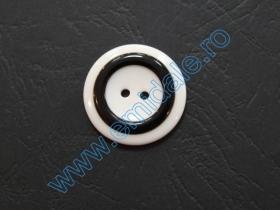 Nasturi Plastic  H275/48 (100 bucati/pachet) Culoare: Negru Nasturi cu Doua Gauri 0312-4050/40 (100 buc/punga)