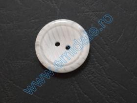 Nasturi Plastic  H275/48 (100 bucati/pachet) Culoare: Alb Nasturi cu Doua Gauri 0313-1284/24 (100 buc/punga)