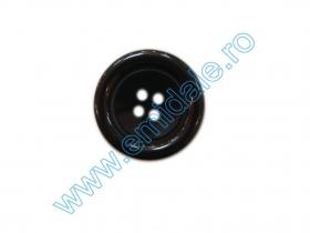 Nasture plastic cu picior 0311-0432/24 (100 bucati/punga) Nasturi cu Patru Gauri 0313-1300/48 (100 buc/punga) Culoare: Negru
