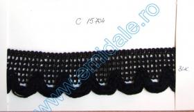 Pasmanterie 0384-0307-15MM (15 m/rola) Pasmanterie C15704  Neagra (50 yards/rola)
