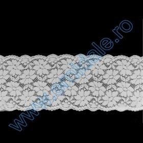 Banda Dantela Brodata, 5 cm (15 metri/rola) Cod: A014-0178 Dantela 7115 (10 m/rola) Alba