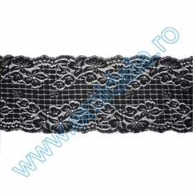 Dantela 7898 (10 m/rola) Neagra Dantela 7898 (10 m/rola) Neagra