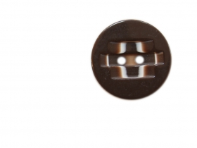 Nasturi Plastic AHS12294-40 (144 bucati/punga)  2 Holes Buttons 0312-0111/40 (100 pcs/bag) Color: Brown