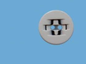 Nasturi Plastic cu Doua Gauri 0312-0111/48 (100 bucati / punga) Culoare: Negru 2 Holes Buttons 0312-0111/48 (100 pcs/pack) Color: White