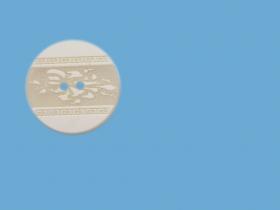 Nasturi Plastic  H275/48 (100 bucati/pachet) Culoare: Alb Nasturi cu Doua Gauri 0314-4668/28 (100 buc/punga)