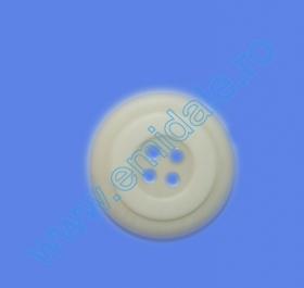 Nasturi cu Patru Gauri 0313-1300/40 (100 buc/punga) Culoare: Negru Nasturi cu Patru Gauri 0313-1393/48 (100 buc/punga) Culoare: Alb