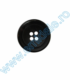 Nasture Plastic cu Picior 0311-1425/44 (100 bucati/punga)  Nasturi cu Patru Gauri 0313-1629/32 (100 buc/punga) Culoare: Negru
