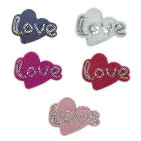 Embleme Termoadezive Petic Jeans (10 bucati/pachet) Cod: 740371 Embleme Termoadezive, Model Inima (12 buc/pachet)Cod: M131