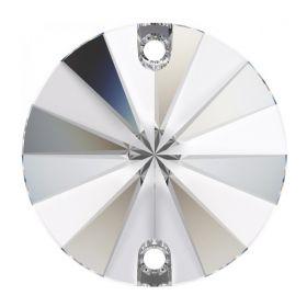 Cristale de Lipit, 12.5 mm, Culoare: Light Siam (1 bucata)Cod: 2720 Cristale de Cusut Swarovski, 14mm, Culoare: Crystal (1 bucata)Cod: 3200