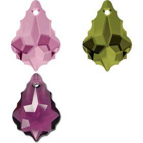 Cristale de Cusut Swarovski, 25x18 mm, Culori: Jet (1 bucata)Cod: 3250 Pandantiv Swarovski, 22x15 mm, Diferite Culori (1 bucata) Cod: 6090