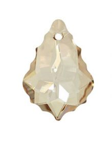 Pandantiv Swarovski, 14 mm, Culori: Light Siam (1 bucata) Cod: 6748 Pandantiv Swarovski, 22x15 mm, Culori: Crystal Golden Shadow (1 bucata) Cod: 6090