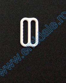 Inele, Reglori, Inchizatori Reglor Sutien, 15 mm, Alb (100 bucati/pachet)