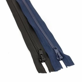 Fermoare Injectate, Detasabile, spira 5mm, lungime 85 cm (100 bucati/pachet) Culoare: Negru Fermoare Injectate, Detasabile, spira 5 mm, de 75 cm (50 buc/pachet) Bleumarin, Negru