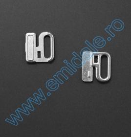 Inele, Reglori, Inchizatori Inchizatori Sutien, 12 mm, Argintiu (100 bucati/pachet)