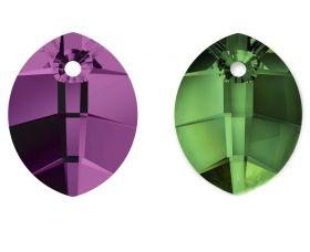 Cristale de Cusut Swarovski, 18x13 mm, Culori: Crystal (1 bucata)Cod: 3250 Pandantiv Swarovski, 14 mm, Diferite Culori (1 bucata)Cod: 6734-MM14COLOR