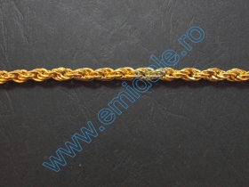 Lant Ornamental 10 mm  (10 m/rola) Culoare: Negru Lant Ornamental (25 m/rola) Culoare: Auriu