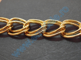 Lant Ornamental 28mm (10 m/rola) Culoare: Negru Metal Chain  (20 m/roll) Code: L1421, Color: Gold